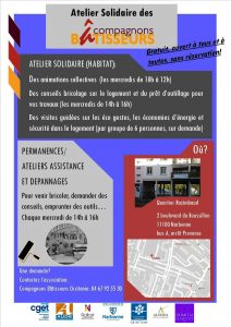 Narbonne : Ateliers solidaires des Compagnons Bâtisseurs @ Atelier Solidaire | Narbonne | Occitanie | France