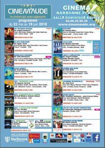 CINEM'AUDE à Narbonne Plage : programme 23 mai au 17juin @ Salle Dominique Baudis | Occitanie | France