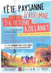Fête Paysanne d'Automne @ Azillanet entrée du village