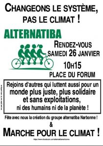 Manifestation d'Alternatiba Narbonne @ Place du Forum Narbonne | Narbonne | Occitanie | France