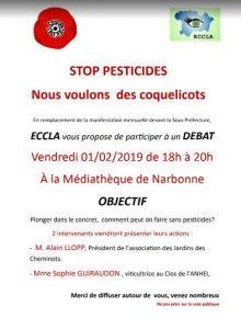 Débat sur les pesticides à la médiathèque de Narbonne @ Médiathèque de Narbonne | Narbonne | France