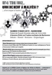 MALVESI : la lutte continue ! Conférences organisées par COVIDEM le 9 mars @ Palais du Travail grande salle | Narbonne | Occitanie | France