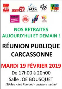 Nos Retraites Aujourd'hui et Demain @ Salle Joë Bousquet | Carcassonne | Occitanie | France