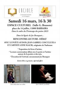 LUCIOLES participe au Printemps des Poètes @ Espace culturel de  Barbaira | Barbaira | Occitanie | France