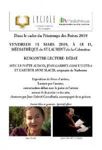 LUCIOLES participe au Printemps des Poètes @ Médiathèque de Saint Laurent de la Cabrerissse | Saint-Laurent-de-la-Cabrerisse | Occitanie | France