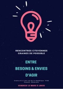Rencontres citoyennes de Pouzols @ Epicerie-café bio « GRAINS D'ICI », | Pouzols | Occitanie | France
