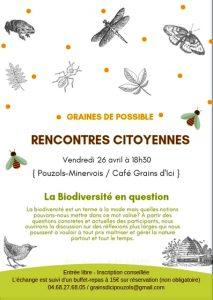 Rencontres citoyennes à Pouzols Minervois @ Epicerie-café bio « GRAINS D'ICI », | Pouzols-Minervois | Occitanie | France