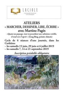 """LUCIOLES organise des ateliers : """"Marcher, Dessiner, Lire, Ecrire"""" @ Dans les Corbières"""