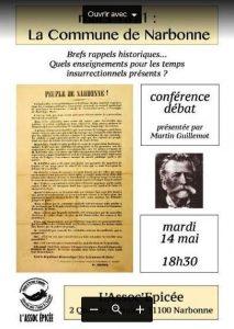 Conférence débat sur la Commune de Narbonne 1871 @ Assoc'épicée | Narbonne | Occitanie | France