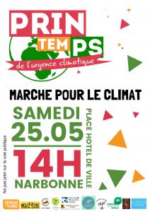 Marche pour le Climat à Narbonne : samedi 25 mai @ Place de l'Hotel de Ville | Narbonne | Occitanie | France
