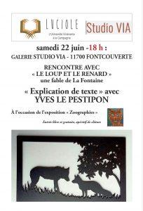 Luciole à Foncouverte : explication de texte avec Yves Le Pestitpon @ Galerie Studio Via | Fontcouverte | Occitanie | France