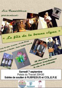 Narbonne : soirée de soutien à RUBRESUS et COL.E.R.E. @ Palais du travail Salle des fëtes | Narbonne | Occitanie | France