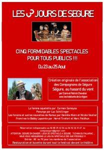 """Festival : """"Les trois jours de Ségure"""" @ les lieux à Segure / Tuchan ou Palirac seront précisés dès que possible"""