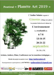 Ginestas : un festival ART et Planète est organisé les weekend de septembre par l'Atelier Solaire @ Ginestas lieux multiples (flèchage) | Ginestas | Occitanie | France