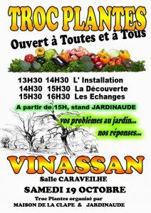 TROC PLANTES A VINASSAN @ Salle Caraveilhe | Vinassan | Occitanie | France