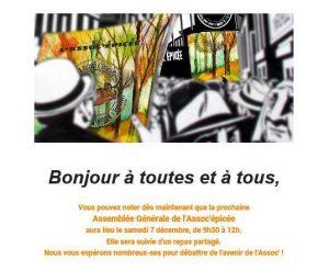 Narbonne : assemblée générale de l'Assoc'epicée @ Assoc'épicée | Narbonne | Occitanie | France