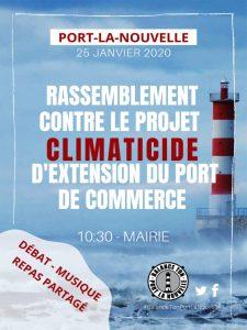 Rassemblement régional contre l'extension de Port La Nouvelle @ Mairie de Port la Nouvelle | Port-la-Nouvelle | Occitanie | France