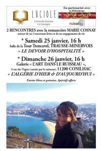 Luciole : rencontre avec la romancière Marie Cosnay à  Trausse-Minervois @ Salle de la Tour Trancavell | Trausse | Occitanie | France