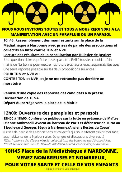 Narbonne - Conférence publique contre les projets d'ORANO MALVEZI @ Anciens Restos du Coeur | Narbonne | Occitanie | France