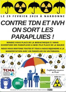 Narbonne : manifestation contre les projets TDN et NVH d'Orano Malvési @ Place de l'Hotel de Ville | Narbonne | Occitanie | France