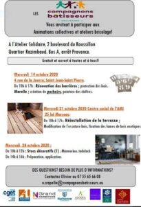 Narbonne : le programme d'octobre de l'Espace Ressource Habitat @ Atelier solidaire | Narbonne | Occitanie | France