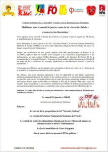Narbonne : manifestation contre la loi de sécurité globale @ Sous préfecture | Narbonne | Occitanie | France