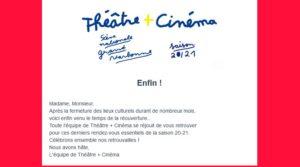 Narbonne : reprise du 19 mai au Théâtre + Cinéma @ Theatre / scène nationale | Narbonne | Occitanie | France
