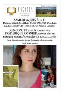 Luciole à Laure-Minervois : rencontre avec la romancière Laure Cosnier