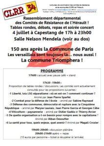 Les comités locaux de résistance et de reconquête de l'Hérault organisent un rassemblement à Capestang @ Salle Nelson Mandela | Capestang | Occitanie | France
